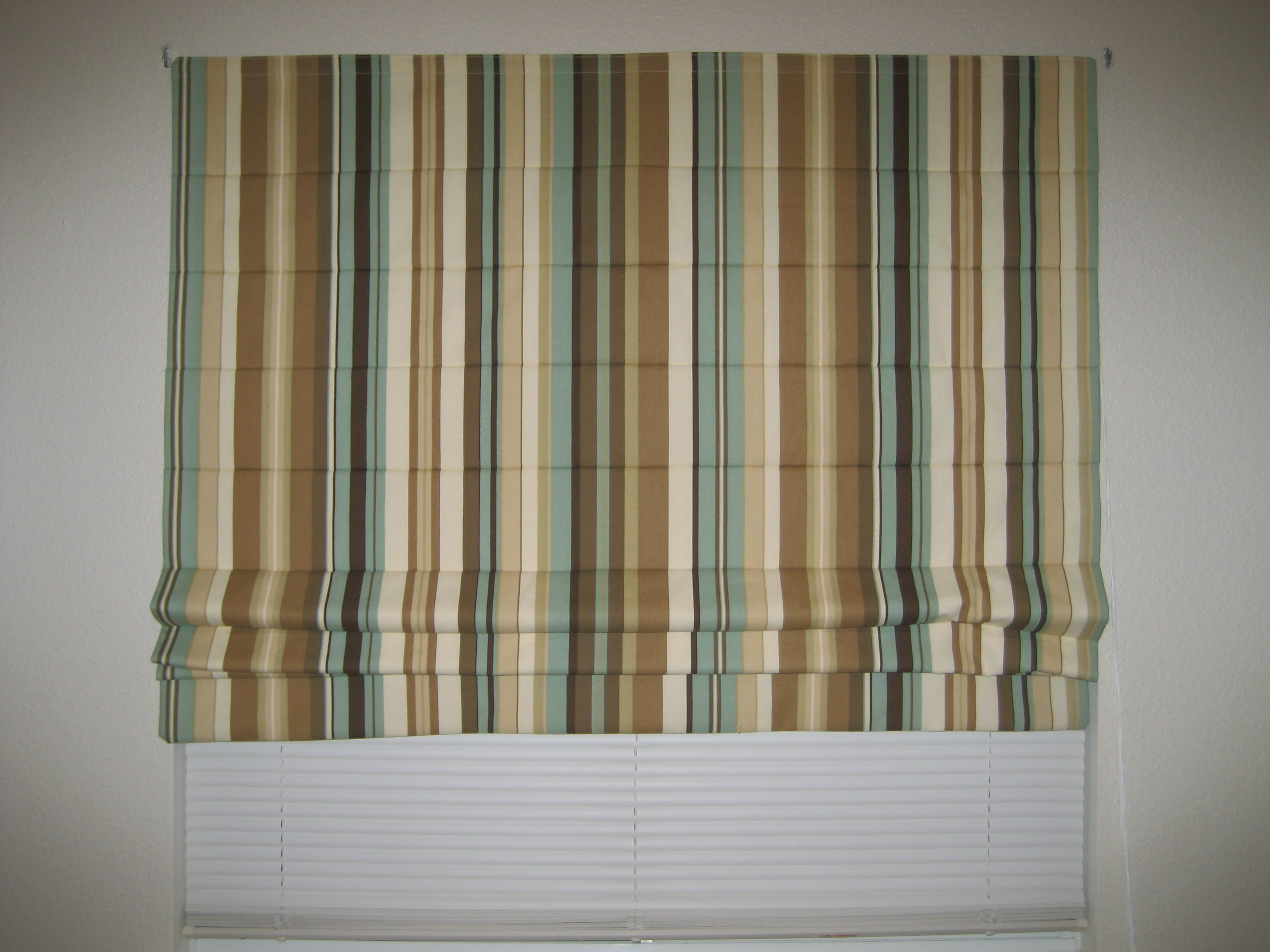Striped Roman Shade Sewing Projects Burdastyle Com