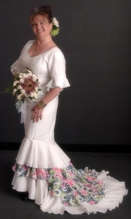 Flamenco style wedding dress sewing projects for Flamenco style wedding dress