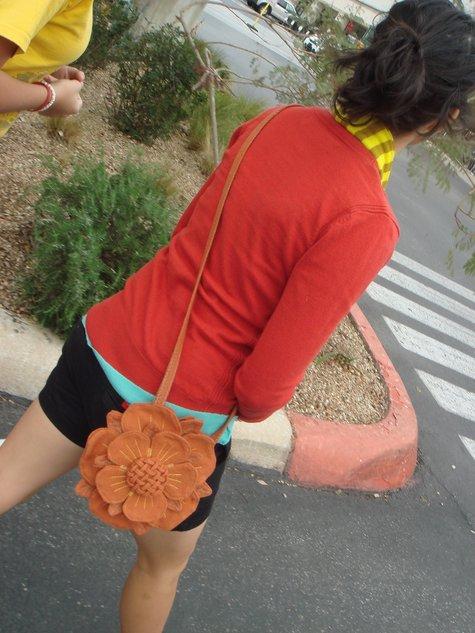Шьем розу на сумке мастер класс сделай сам #2