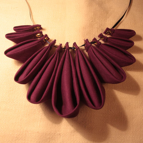 Origami Petal Necklace – Sewing Projects | BurdaStyle.com - photo#13