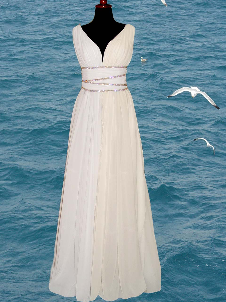 Grecian style dress sewing projects for Greece style wedding dresses