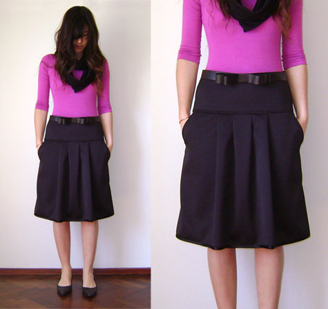 My A-plus A-line black skirt – Sewing Projects | BurdaStyle.com