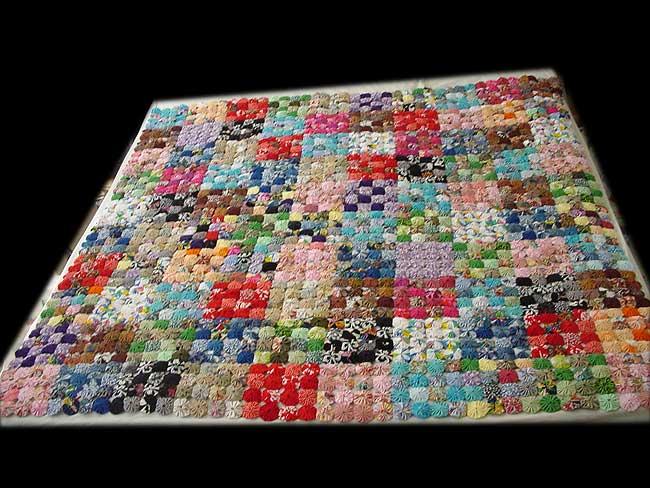 how to make fabric suffolk puffs