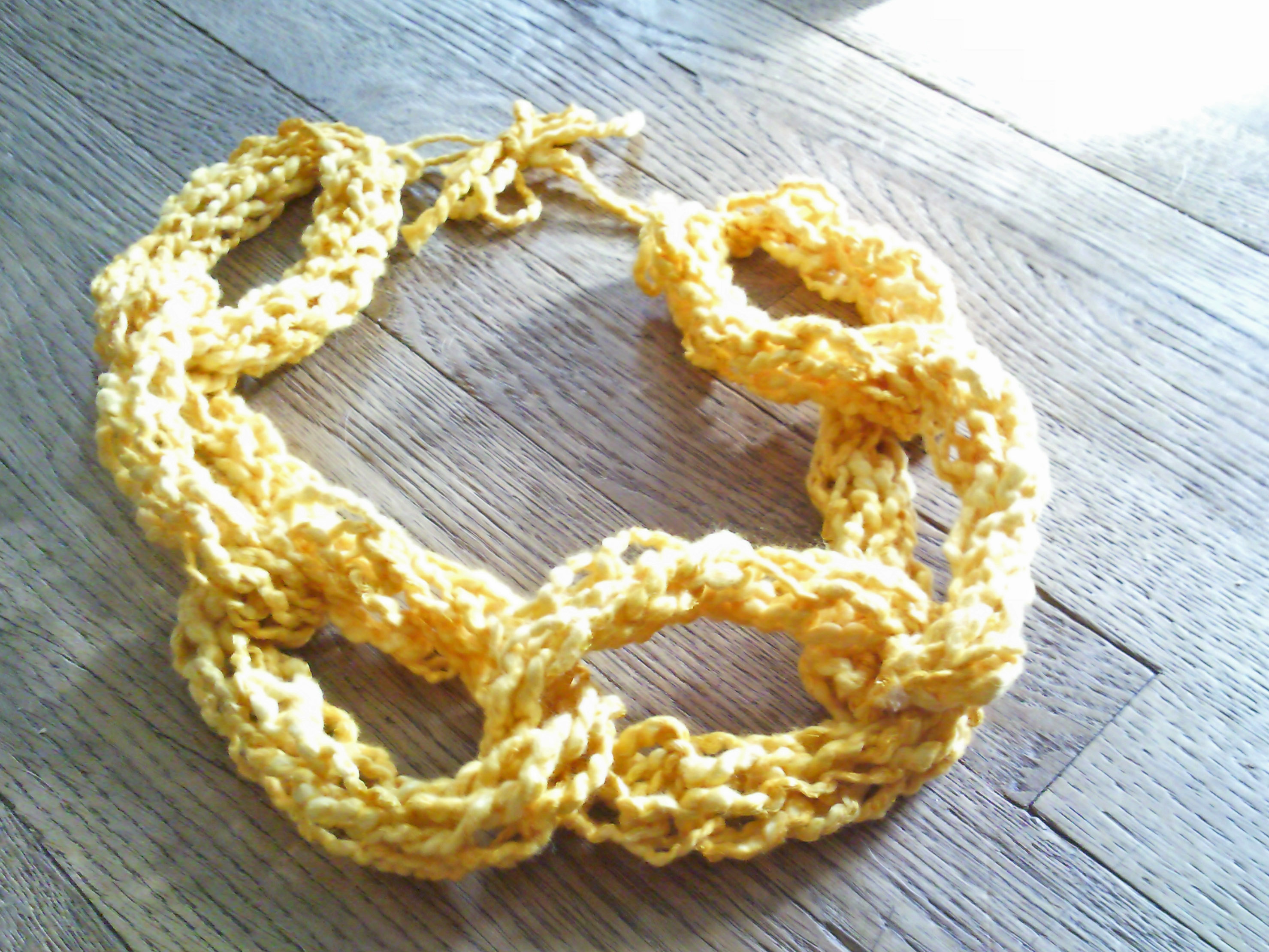 Finger Knitting For Kids Projects : Finger knitting necklaces sewing projects burdastyle