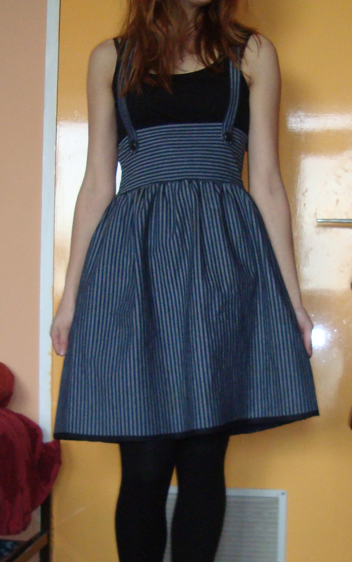Striped Pinafore Skirt Sewing Projects Burdastyle Com
