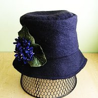 Black_wool_felt_cloche_with_cluster_of_purple_violets_01_listing