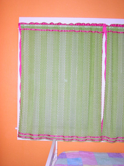 lime green curtains sewing projects