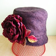 Chocolate_wool_felt_hat_with_big_cranberry_rose_and_velvet_leaves_01_listing