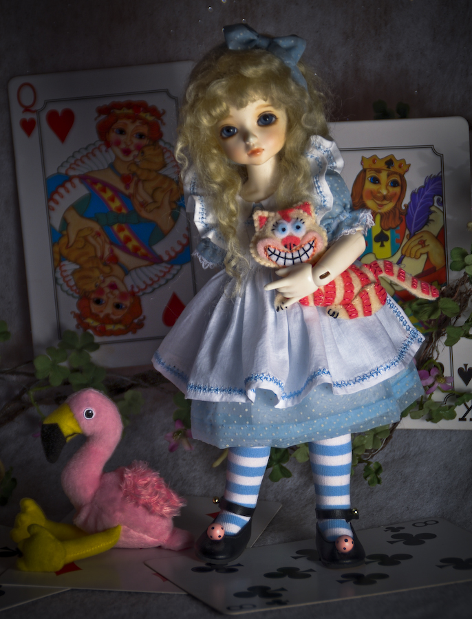 Alice In Wonderland Doll Dress And Cheshire Kitty Sewing
