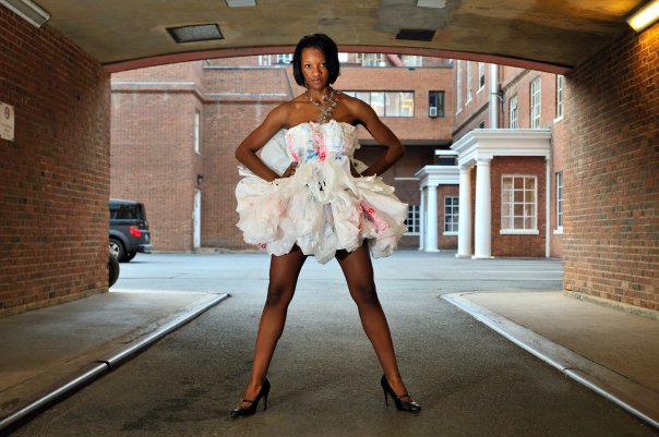 Plastic Shopping Bag Dress – Sewing Projects | BurdaStyle.com