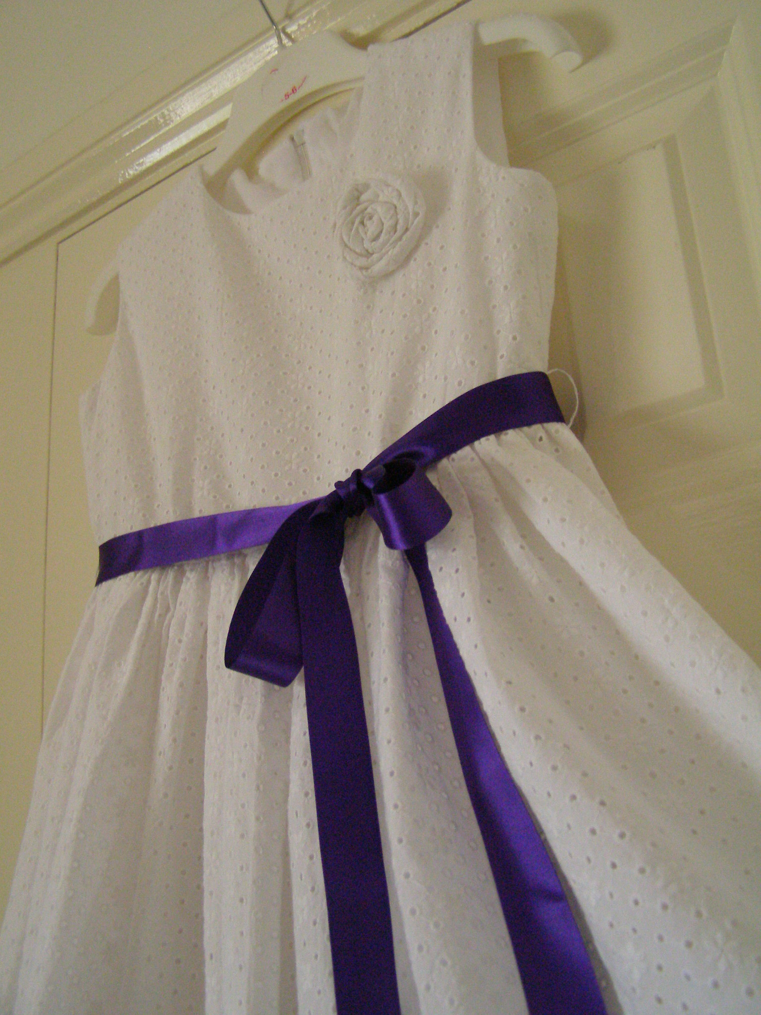 Broderie anglaise princess dress sewing projects
