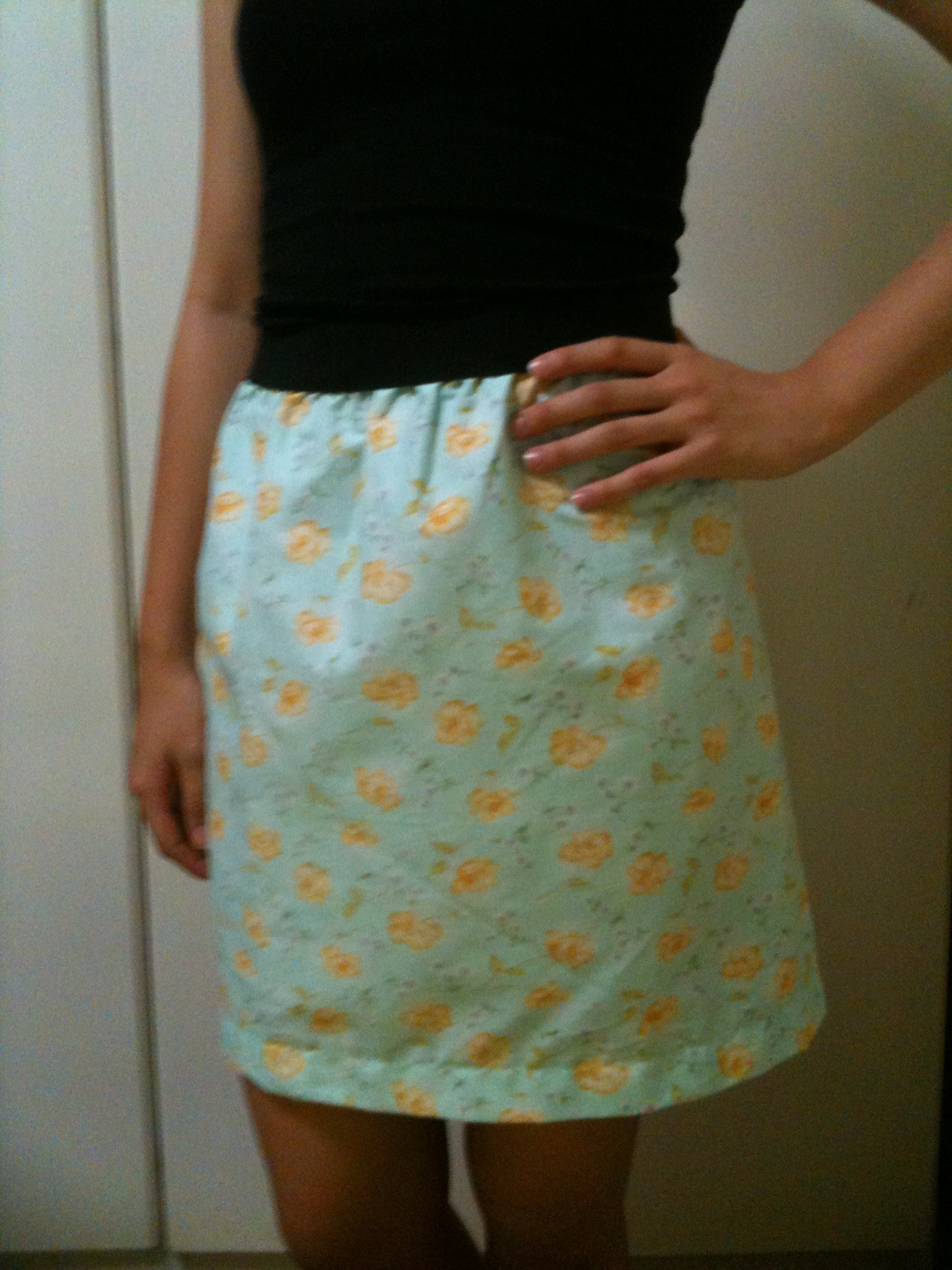 how to make a simple skirt with elastic