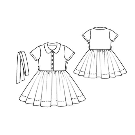 6/2010 Girl's dress with full skirt