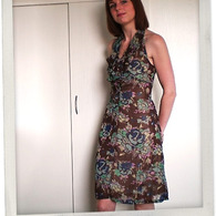 Brown_flower_summer_dress_w1_listing