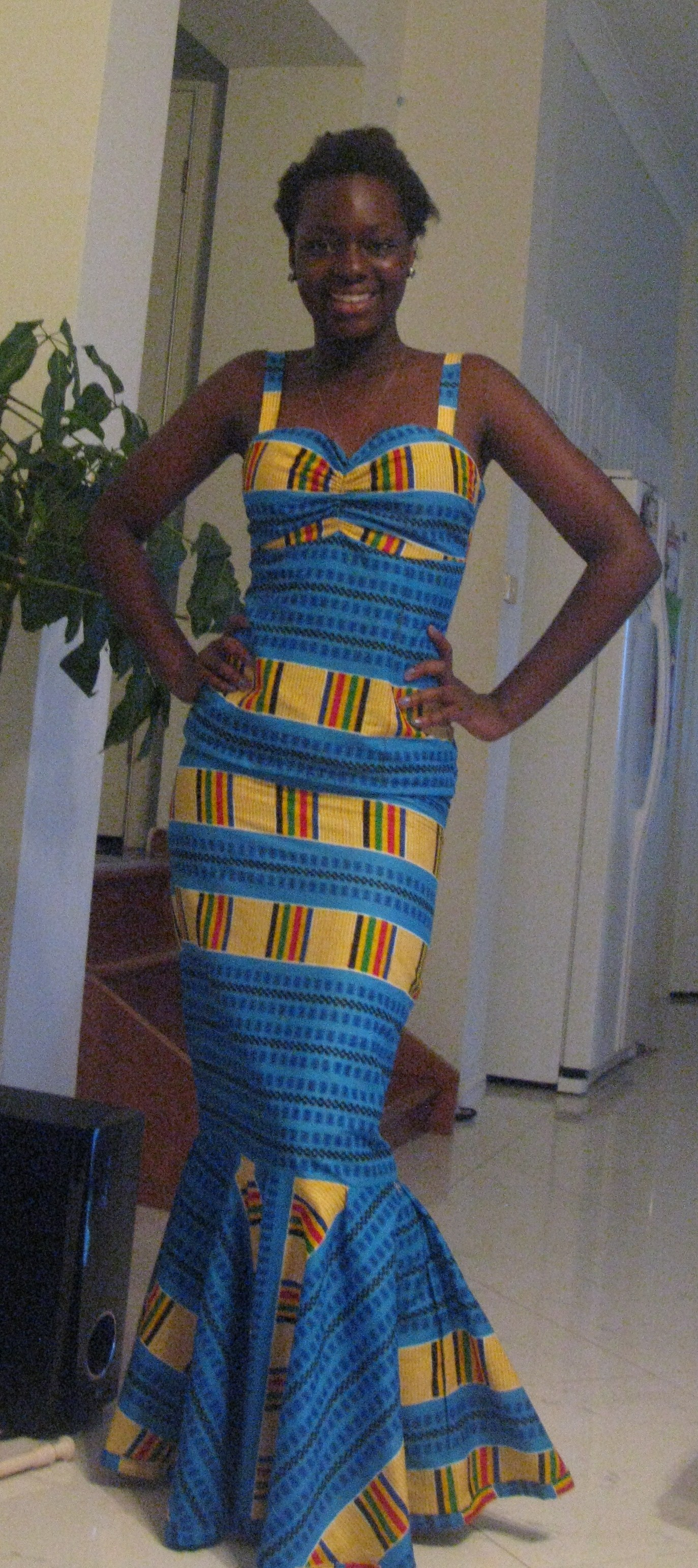 Ghanaian kaba and slit blouse and skirt sewing projects