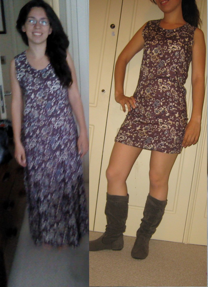 Long boring dress into short summer dress – Sewing Projects ...