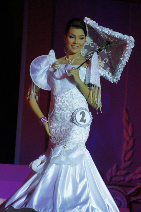 White Mermaid Cut Filipiniana Gown Sewing Projects