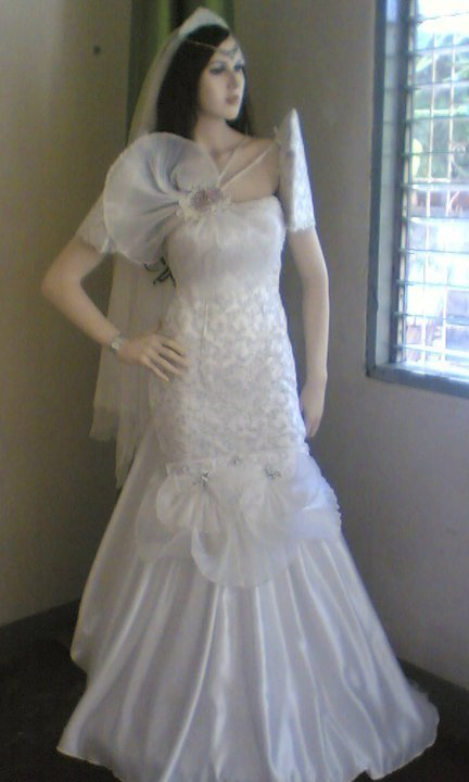 White mermaid cut filipiniana gown sewing projects burdastyle
