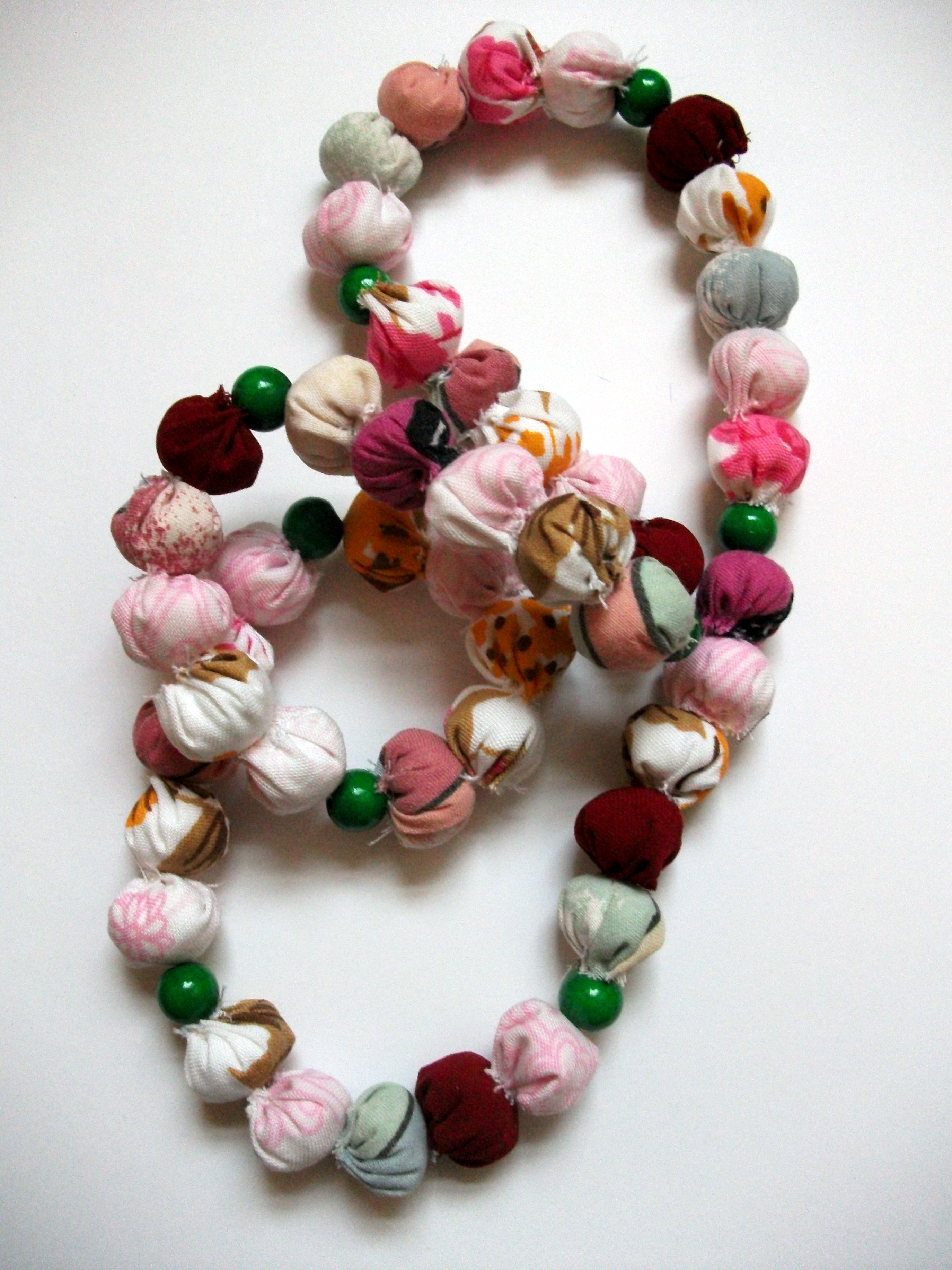 Upcycled fabric necklace for Modcloth\'s Handmade Contest – Sewing ...