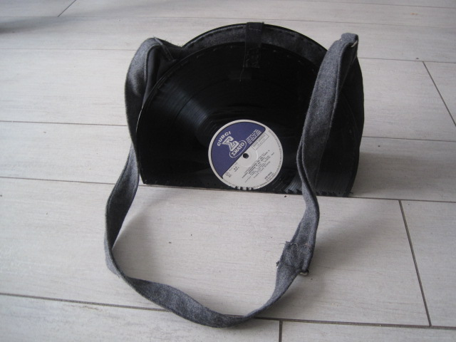 vinyl record purse sewing projects