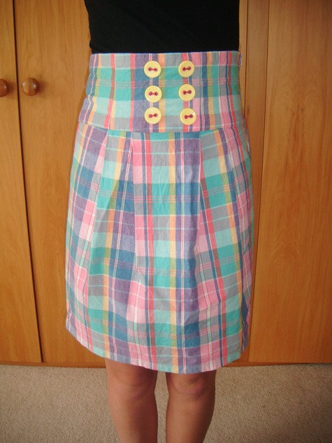 Simple High Waisted Skirt-Burda Pattern – Sewing Projects ...