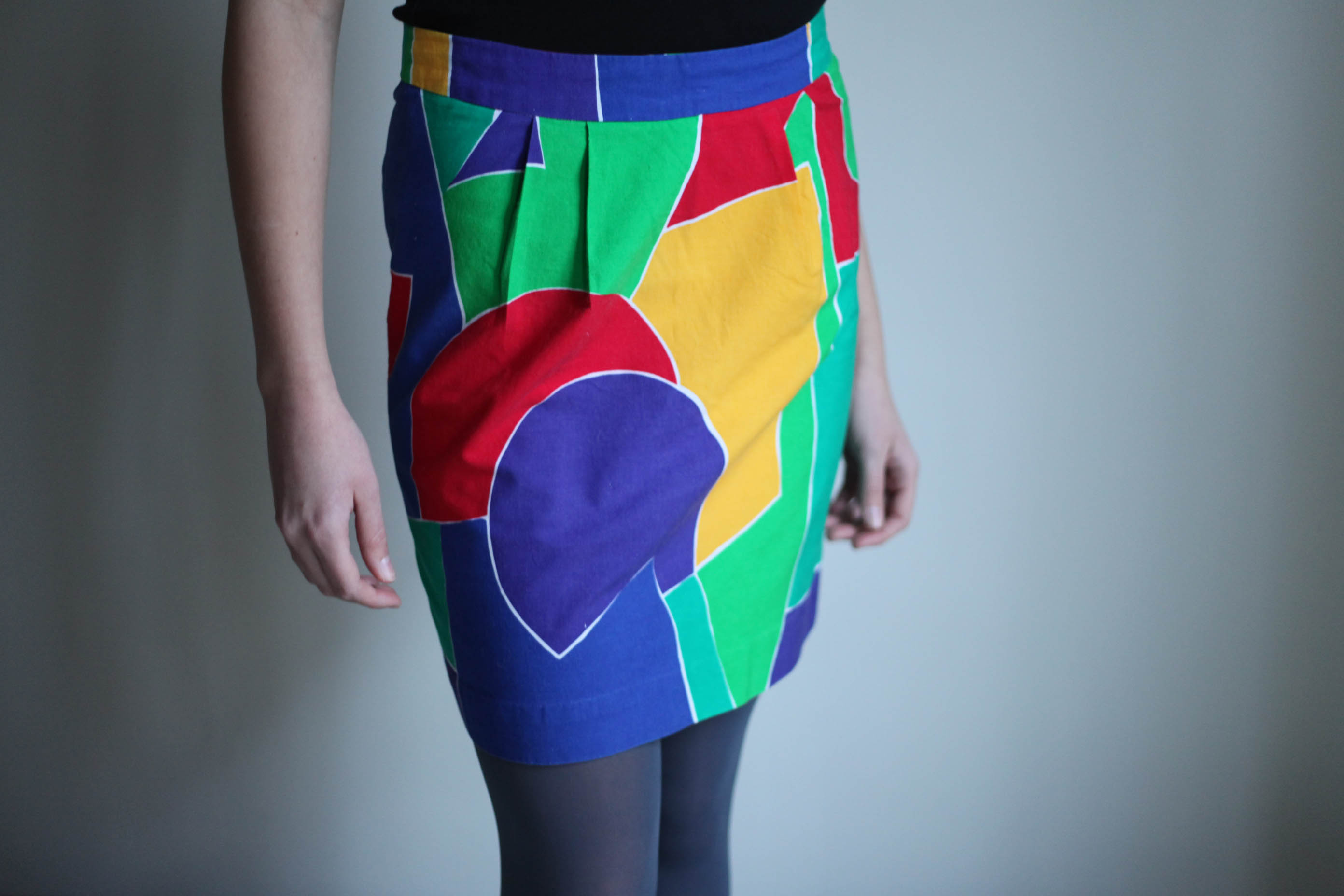 rainbow pencil skirt sewing projects burdastyle