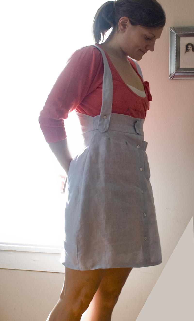 Suspender Skirt Sewing Projects Burdastyle Com