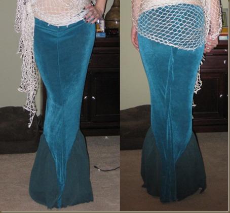 Mermaid Tail Costume Skirt