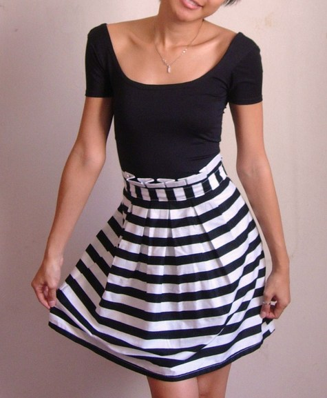 Paperbag high waist skirt with scoop neck top – Sewing Projects ...