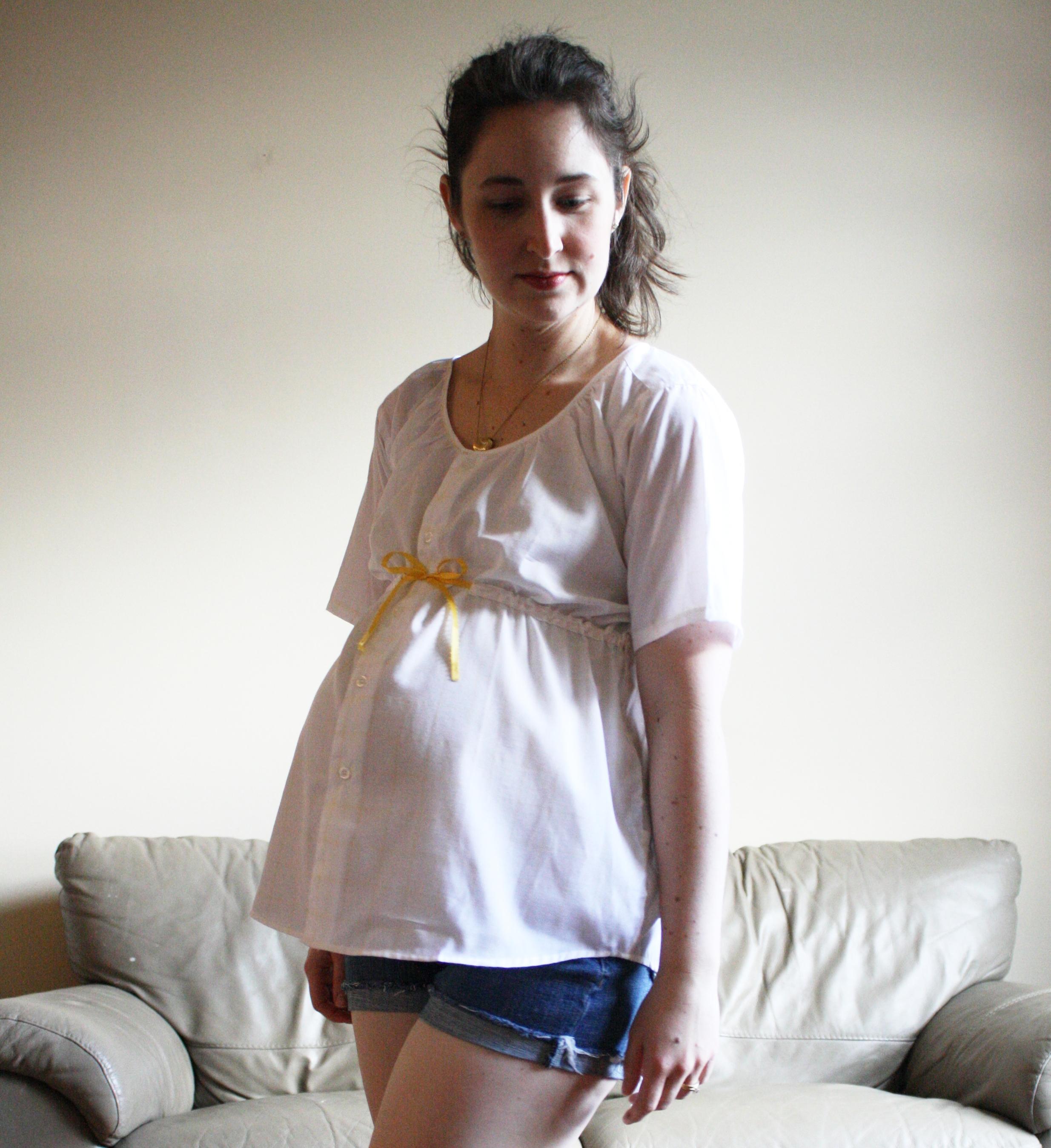 Как сшить блузку для беременных самой