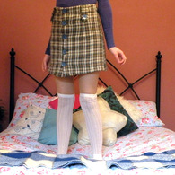 Plaid_button_mini_skirt_-_worn_listing