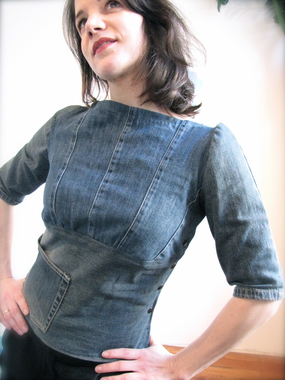 Make-me-happy Jean Top! u2013 Sewing Projects | BurdaStyle.com