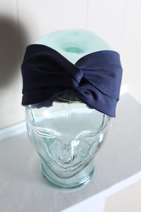 Navy Twist Turban Headband Sewing Projects Burdastyle Com