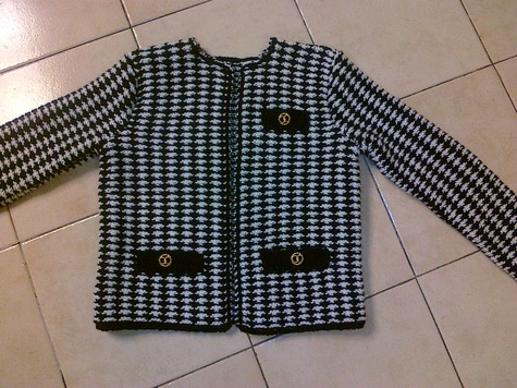 Knitting Pattern Chanel Style Jacket : My own knit