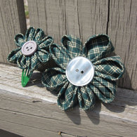 Green_plaid_my_buddy_and_me_barrettes_listing