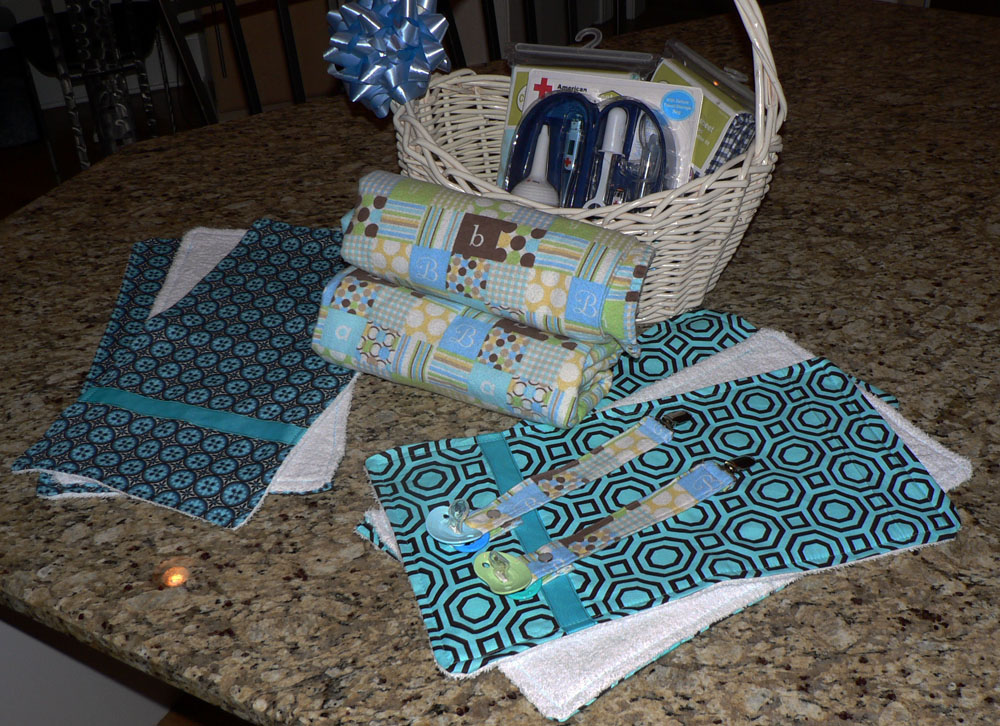 Baby Shower Gifts Burp Cloths Receiving Blankets And