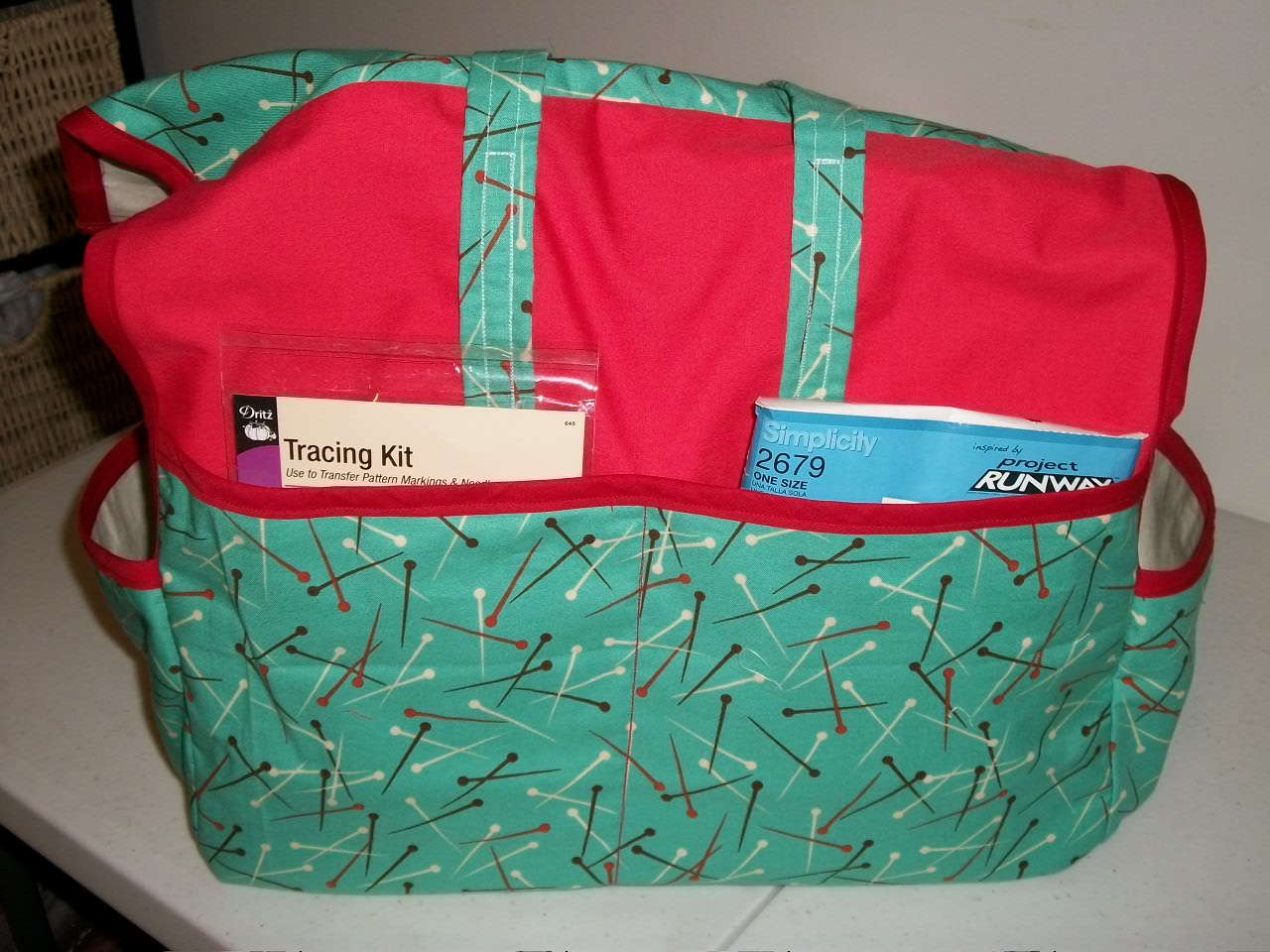 My simple sewing machine tote projects