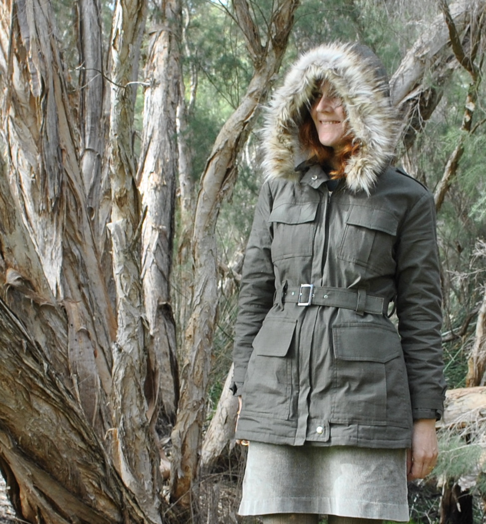 Jacket Detachable Faux Fur Edged Hood Sewing Projects