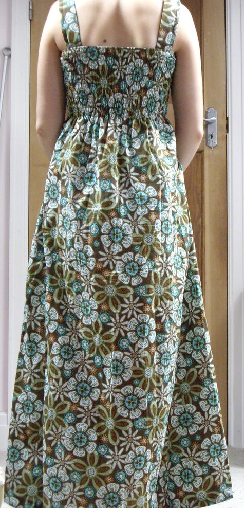 Shirred maxi dress – Sewing Projects | BurdaStyle.com