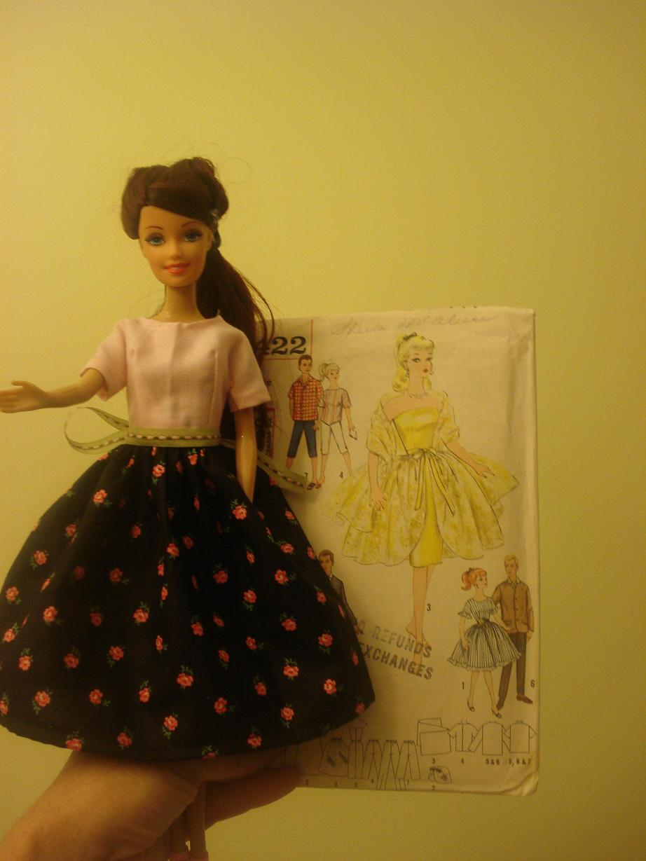 Retro Barbie Like Doll Clothes Sewing Projects