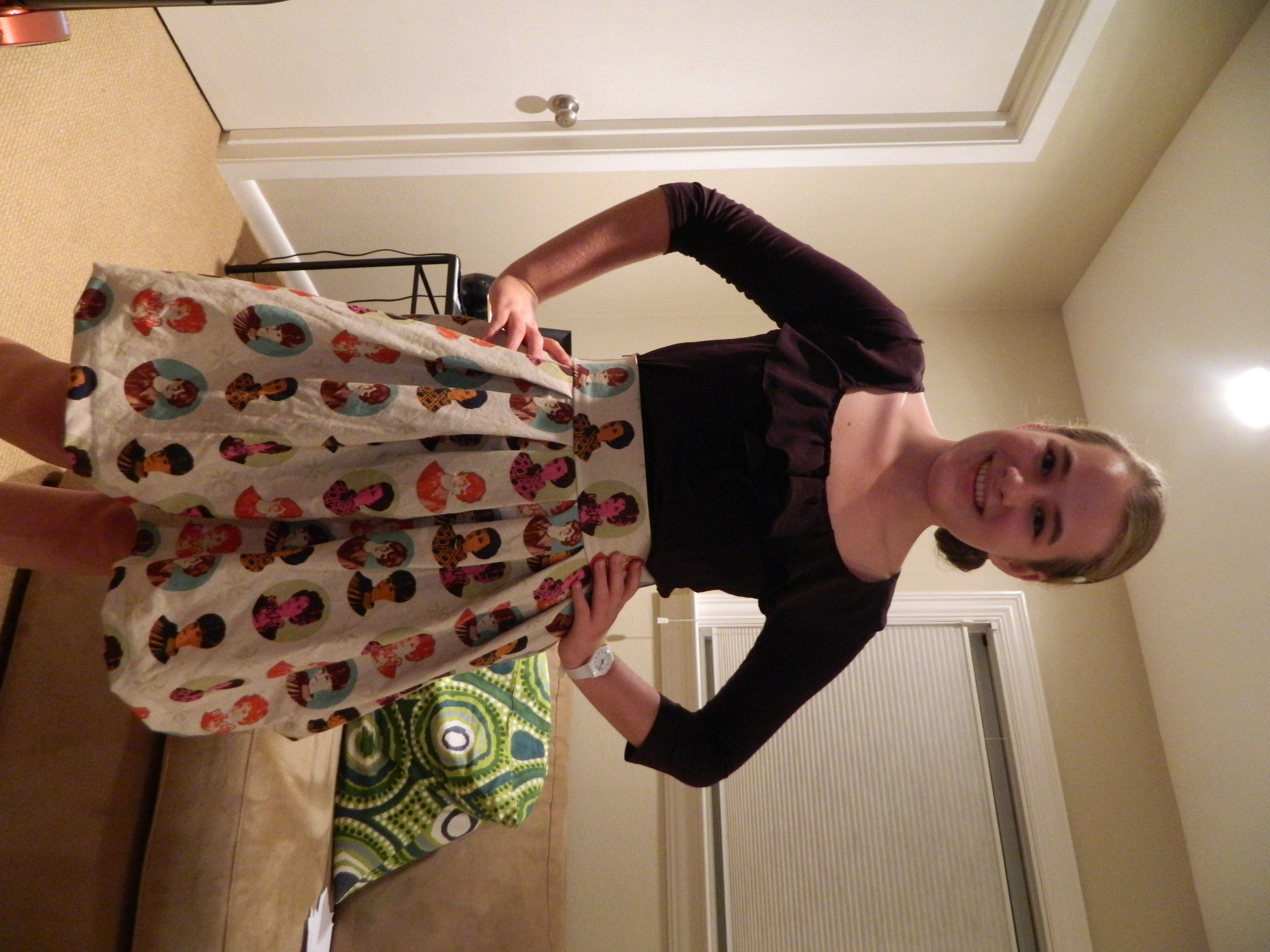 retro box pleated skirt sewing projects