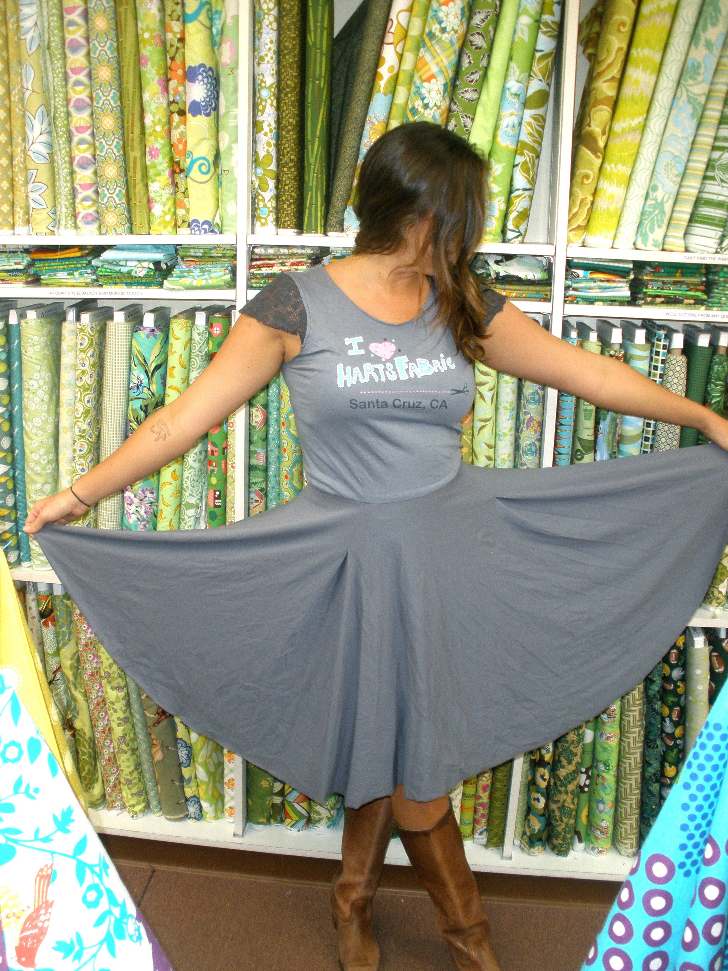Knit jersey circle skirt dress sewing projects burdastyle bankloansurffo Image collections