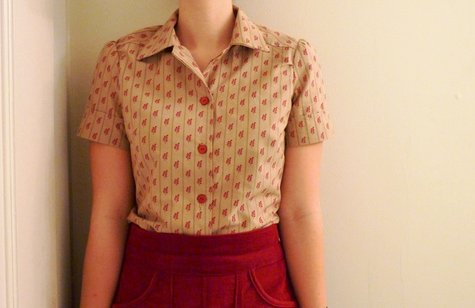 red leaf button down shirt – Sewing Projects | BurdaStyle.com