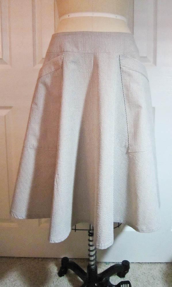 seersucker a line skirt sewing projects burdastyle