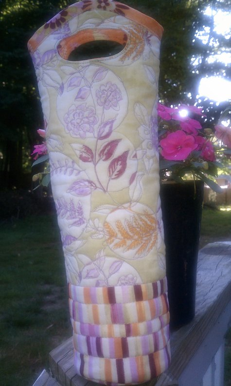 Quilted Wine Tote Sewing Projects BurdaStyle.com