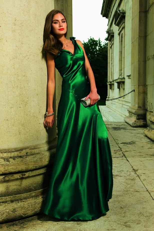 Фасоны атласных платьев