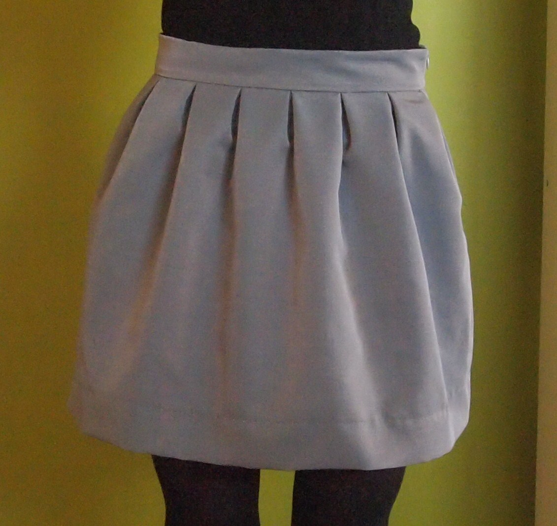 wool faille box pleat skirt sewing projects burdastyle