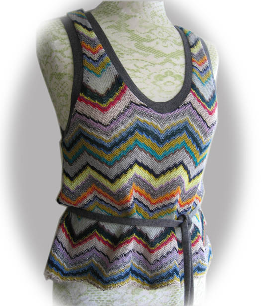 tank top made in missoni fabric by stichless sewing. Black Bedroom Furniture Sets. Home Design Ideas