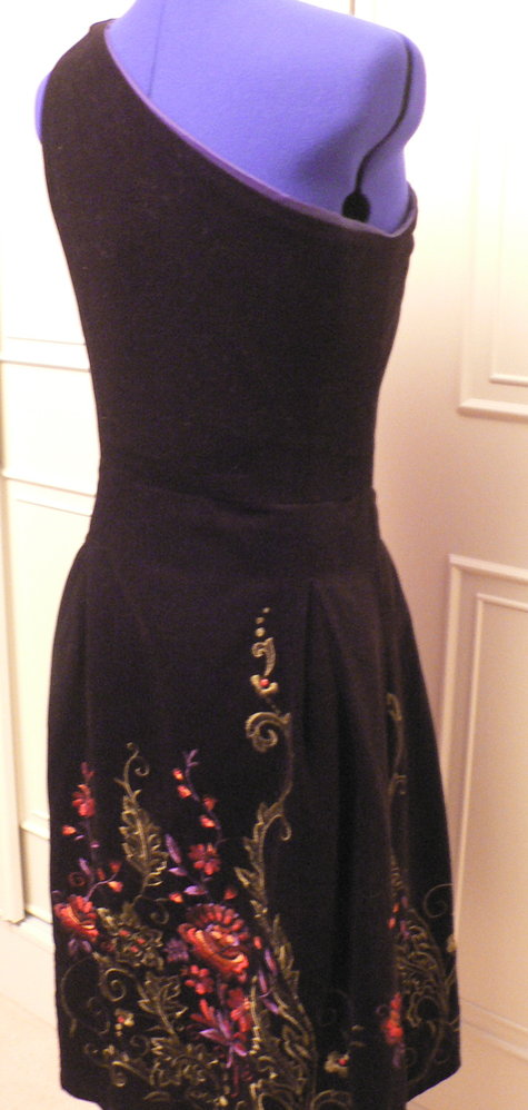 Embroidered black velvet sewing projects burdastyle