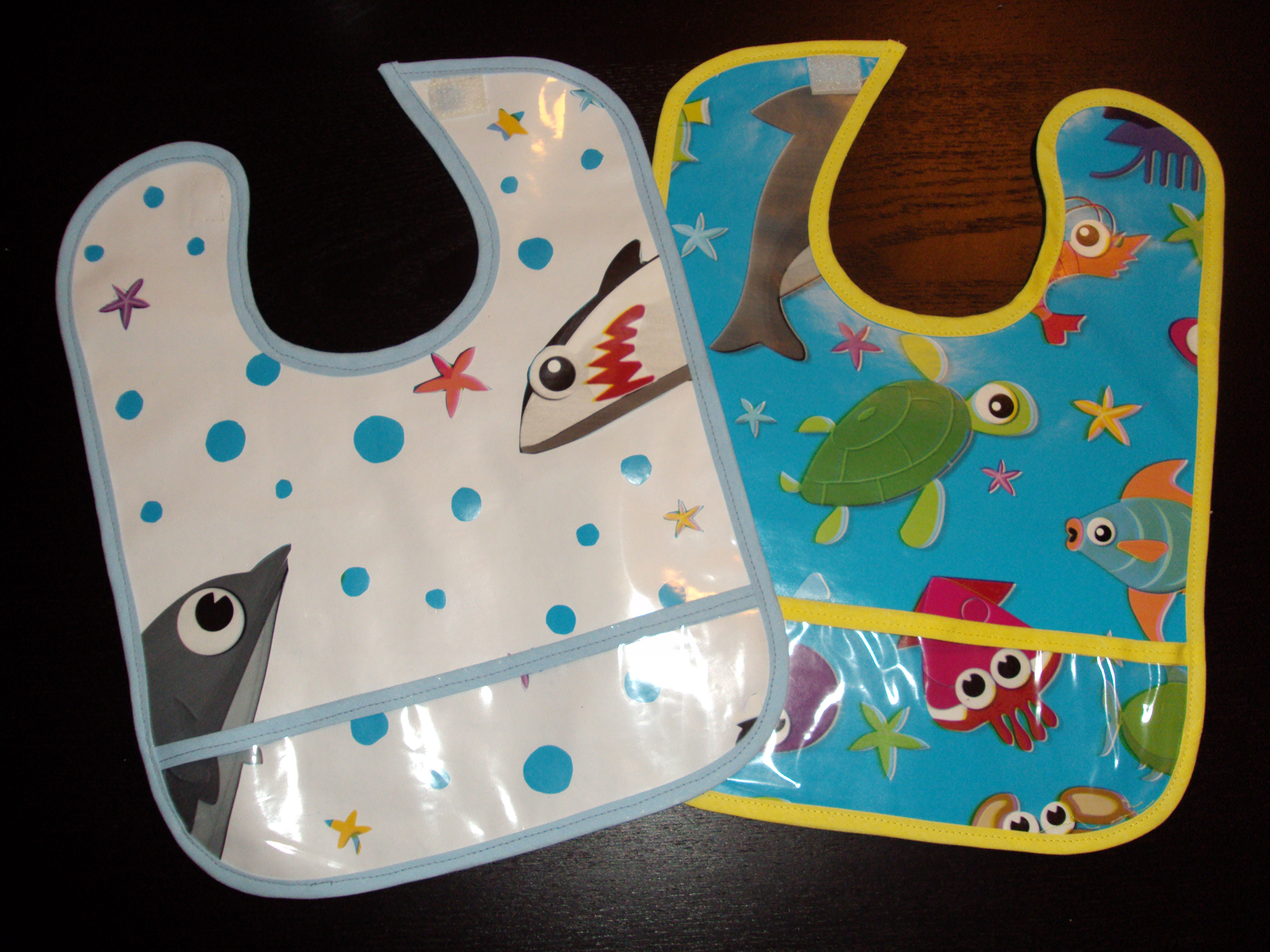 Bibs Made With Vinyl Tablecloth Sewing Projects